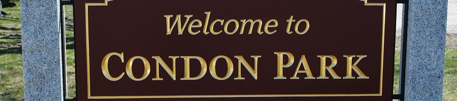 Welcome to Condon Park sign