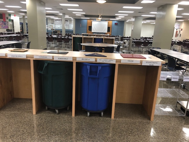 DHS Recycling and Composting Stations
