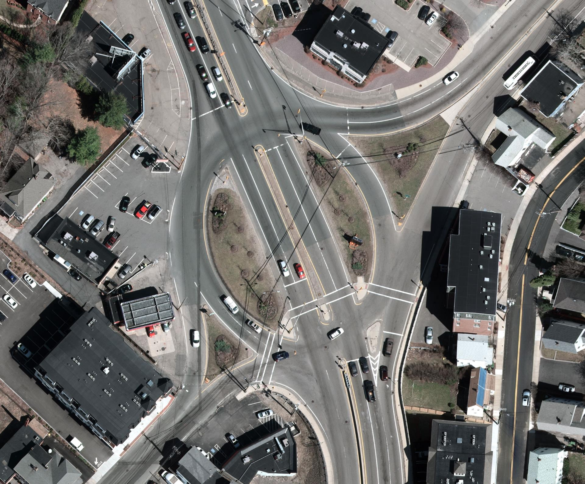 Aerial View of this complicated intersection