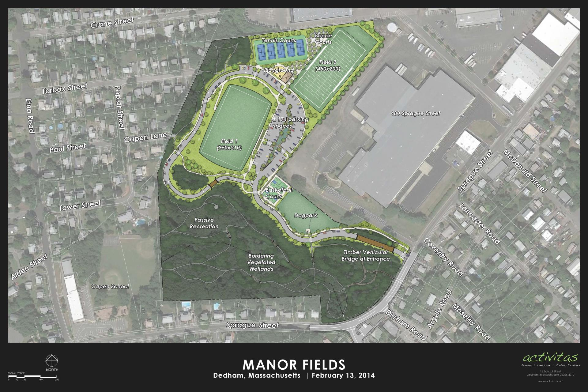 Manor Fields rendering